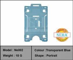 ID Card Holder Blue Transfer