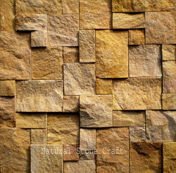 rock faced stone wall tile