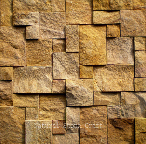 rock faced stone wall tile size 25 x 25 cm rs 139 square feet