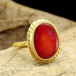 Original Coral Stone Ring (Munga)