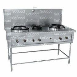 Stainless Steel Chinese Burner Cooking Range