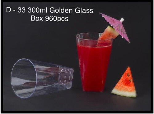 Plastic D-33 Golden Glass 300mL