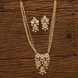 Designer Handmade Gold Plated Necklace Set 350058
