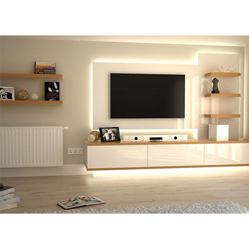 Neptune Enterprises White Brown Modern Living Room Tv Cabinet For Home And Hotel Rs 30000 Piece Id 19190801488