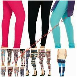 Multicolor Lycra Cotton Leggings, Size: Large