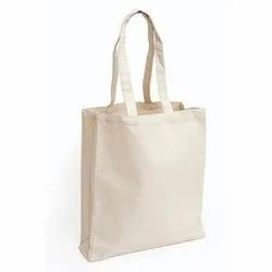 Plain White Cotton Carry Bags, 4-5L