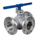 SS 316 Three Way Plug Valve