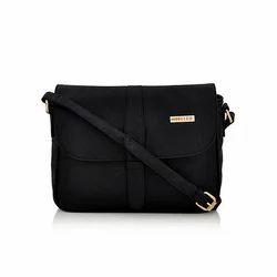 Steller Rexine Designer Black Sling Handbag ... 46d14ca105b0c