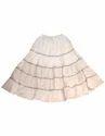 Cotton Sequin Lace Panel Skirt