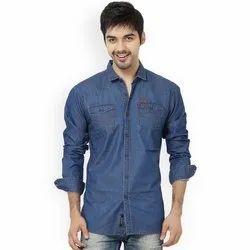 1c95ea6cf7b Full Sleeves Plain Men Denim Shirt