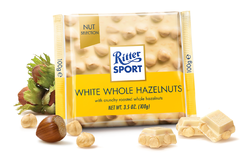 Ritter Sport White Chocolate with Whole Hazelnuts (100g)