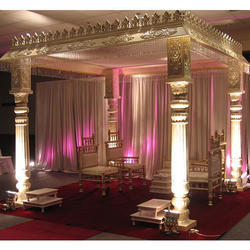 White Fiber Traditional Wedding Mandap, For Weddings, Size: 12 Feet