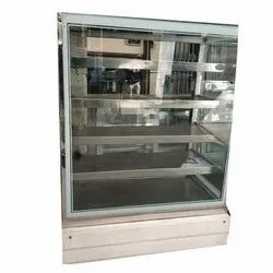 Stainless Steel and Glass Stainless Steel Display Counter