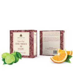 Aro Vatika Best Quality Orange Mandarin and Bergamot Organic Soap, 100g