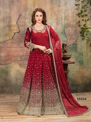 Aanaya 56000 Series 56001-56007 Stylish Party Wear Taffeta Silk Suit