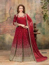 Aanaya 56000 Series 56001-56007 Stylish Party Wear Taffeta Silk Suit