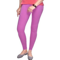 Plain Cotton Ladies Straight Fit Legging