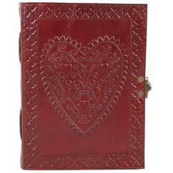 Celtic Heart Embossed Leather Journal