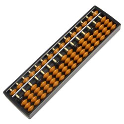15 Rod Plastic Yellow Student Abacus