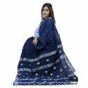 Handloom Designer Khadi Dark Blue Saree