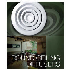 Aluminium Polished Froid Technicia Round Ceiling Air Diffuser, For Industrial