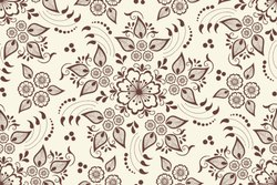 Digital Printed Ethnic Floral Pattern Fabrics