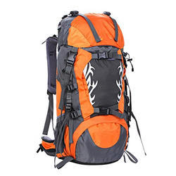 Orange & Grey Nylon Climbing Backpack