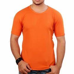 Men's Nylon Half Sleeve Plain T Shirt