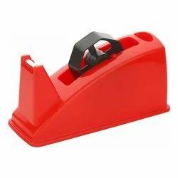 Red Plastic Desktop Tape Dispenser