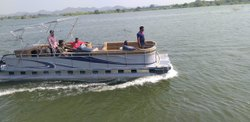 Aluminum Triple Pontoon Boat 25 Seater (Only Boat)