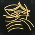 Brushed Gold Plated Curved Tube Beads