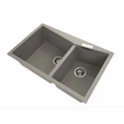 Mild Steel Double Bowl Kitchen Sink