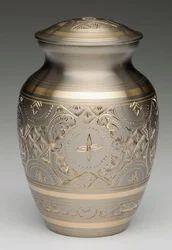 Platinum And Golden Brass Cremation Urn