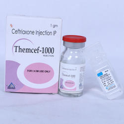 1000 mg Ceftriaxone Injection IP