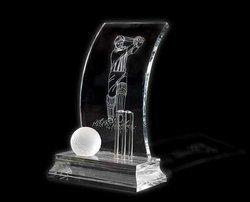 Cricket Crystal Trophy