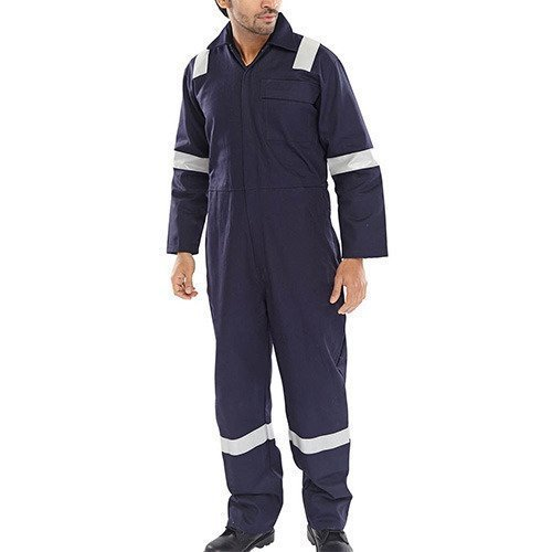 b80c4fb9b63 Cotton Large Boiler Suit Navy Blue With Reflective Tape
