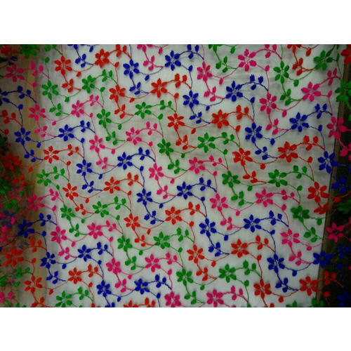 Party Wear Net Embroidery Fabric