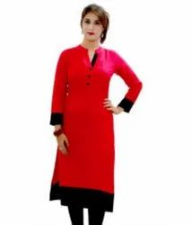 Ladies Red Casual Kurti