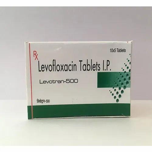 Levotran-500 Levofloxacin Tablets IP, Packaging Size: 10x5 Tablets, Prescription