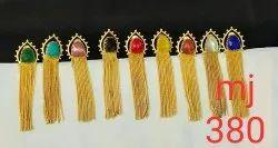 Stone Chain Earring