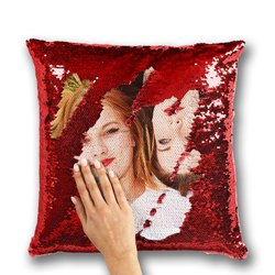 Photo Printed Sequin Pillow Personalized Magic Pillow Printing in Vasai Virar, Size: 15 Inch X 15 Inch, Shape: Square