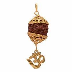 OM And Rudraksha Pendant
