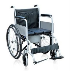 Non Folding Wheel Chair with commode