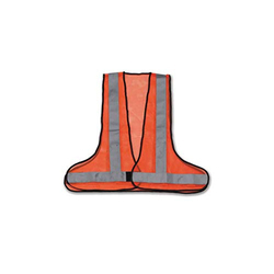 BALAJI Orange 3 Side Opening Jacket For Traffic Control, GSM: 100-250