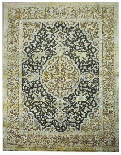 Handmade Wool Saree Silk Oxidized  Rugs