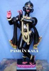 Black Iskon Krishna Statue