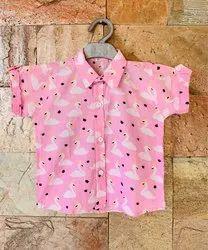 Printed Half Sleeves Cotton Shirt for Kids