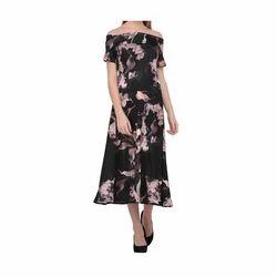 Ladies Cotton Off Shoulder Gown, Size: S to XL