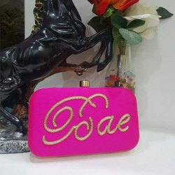 Pink Personalized Name Clutch