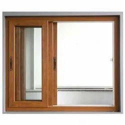 Modern Designer Wooden Sliding Window, For Home